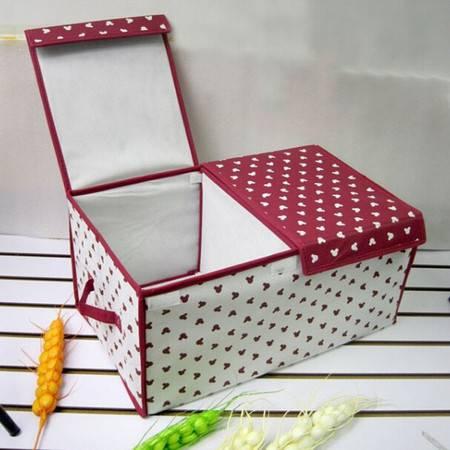 酒红小熊 米奇头 可折叠收纳箱 整理箱/收纳盒小号