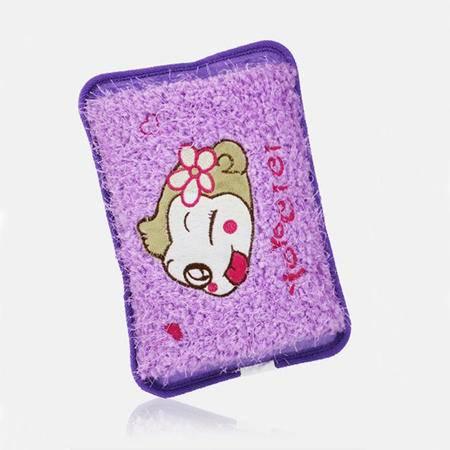 红兔子 春笑充电热水袋CX-GB01国标防爆 水电分离双插手暖手宝 毛绒卡通双插手 暖手宝 紫色嘻哈