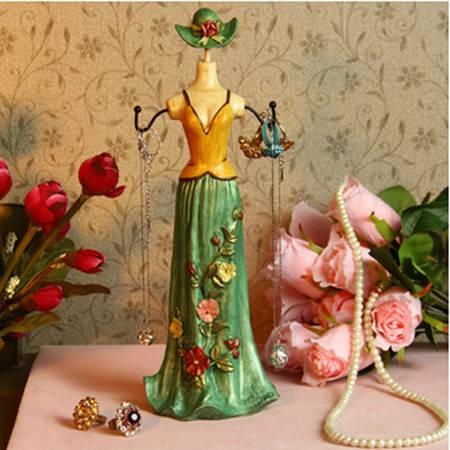 红兔子 28CM 墨绿色礼服模特首饰架/饰品挂架 多色抹胸礼裙