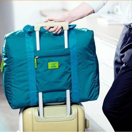 普润 韩版防水尼龙折叠式旅行收纳包 旅游收纳袋 男女士衣服整理袋 绿色