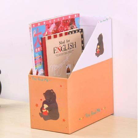 红兔子 (女孩与熊)畸良卡通桌面收纳盒 杂物收纳箱 大号文件收纳盒