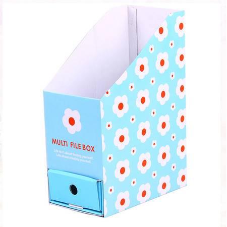 红兔子 (小花)卡通带抽屉桌面收纳盒 文件文具整理盒纸质收纳盒
