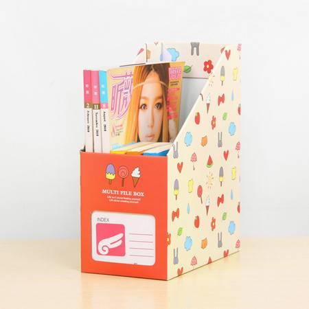 红兔子 (冰淇淋)卡通桌面收纳盒 杂物收纳箱 大号文件收纳盒