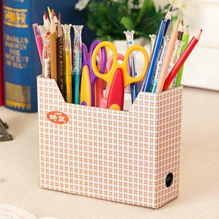 红兔子 (小格子)畸良小号加厚纸质DIY风田园碎花小桌面收纳盒整理盒
