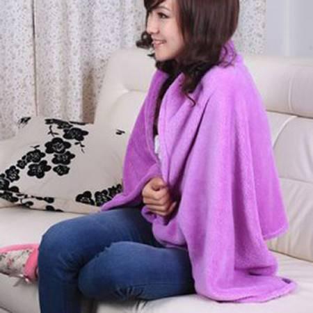 普润 百变袖毯 多功能披肩 日式百变珊瑚绒披肩颜色随机