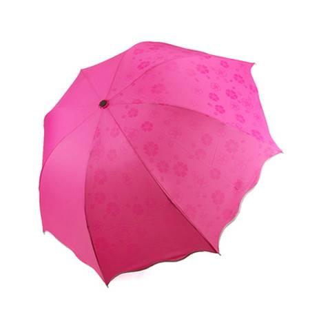 普润 魔术雨伞/防紫外线遇水变花太阳伞(玫红色)