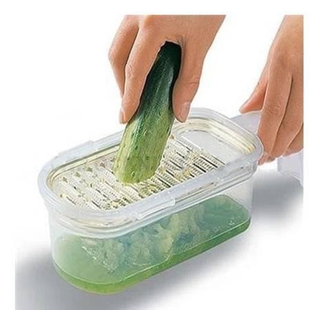 普润 家用瓜果蔬菜刨丝切丝器擦丝器削丝器 刨磨器保鲜盒套装