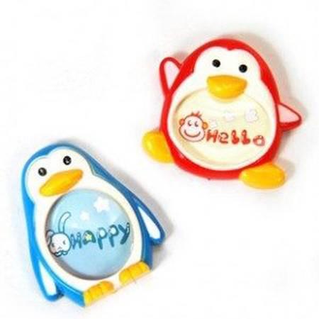 普润 企鹅造型磁性冰箱贴相框(2枚装)