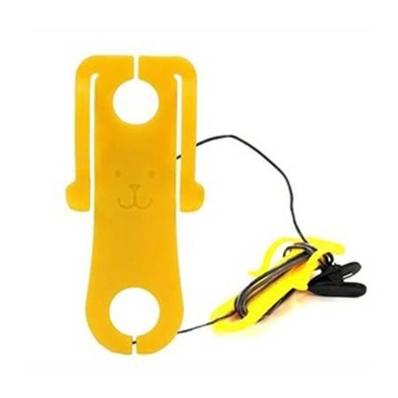 普润 卷线夹 集线器 MP3 MP4绕线盒耳机线整理器颜色随机