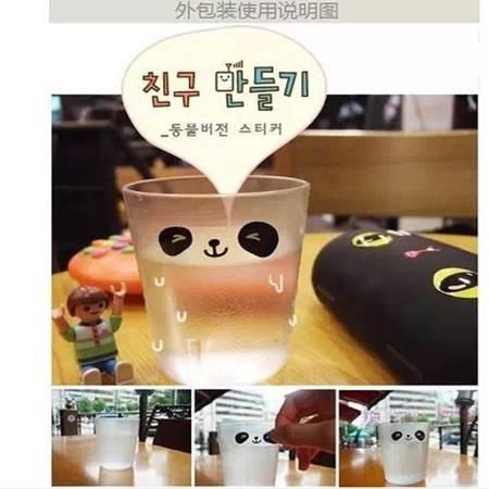普润 可爱小动物卡通笑脸表情贴纸 手机贴 水杯贴