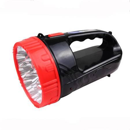 普润 LED大功率充电式探照灯强光手提灯远射应急灯家用手电筒