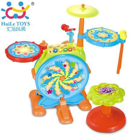 普润 爵士鼓大号儿童架子鼓电子鼓早教玩具宝宝音乐乐器