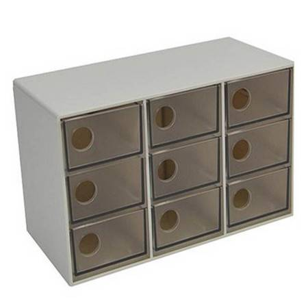 普润 时代良品九格抽屉式收纳盒/储物盒(3601)
