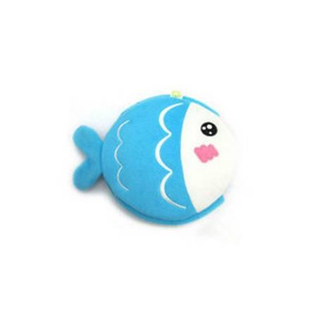 普润 USB保暖鼠标垫 暖手鼠标垫 发热鼠标垫 蓝色 KISS鱼