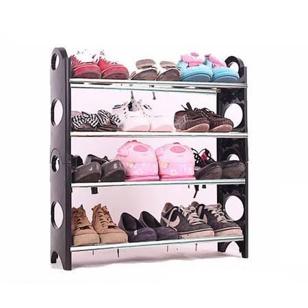 普润 日式可调节四层组合鞋架