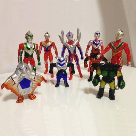 普润 超人奥特曼 百变超人宇宙英雄 人偶/公仔/模型套装 超人玩具 5个奥特曼4个怪兽组合