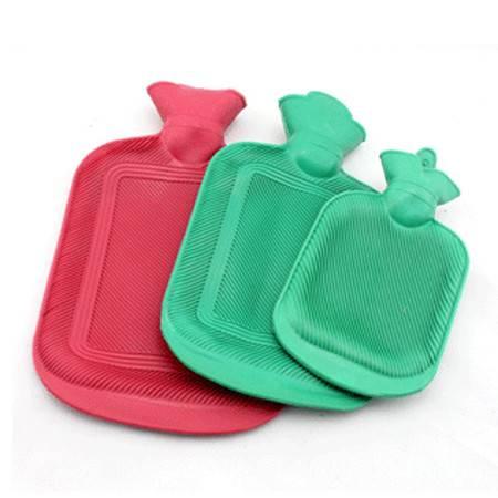 普润 怀旧充水热水袋 冲水热水袋 加厚橡胶注水暖水袋 小号颜色随机