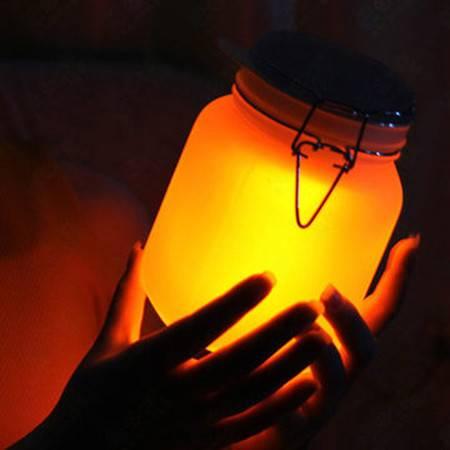 普润 七彩阳光罐子双色月光罐太阳能储蓄罐储存罐