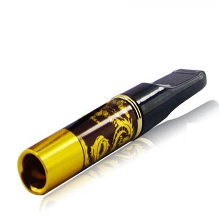 普润 礼盒黄金烟嘴 拉杆过滤减毒 可清洗循环型 附加便携管