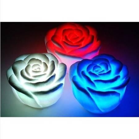 普润 玫瑰花小夜灯 七彩玫瑰花灯 led节能创意七彩小灯 婚庆情侣灯