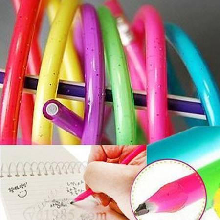 普润 十二支 神奇18cm (短款)软铅笔 金粉水晶笔杆软铅笔 可随意弯曲