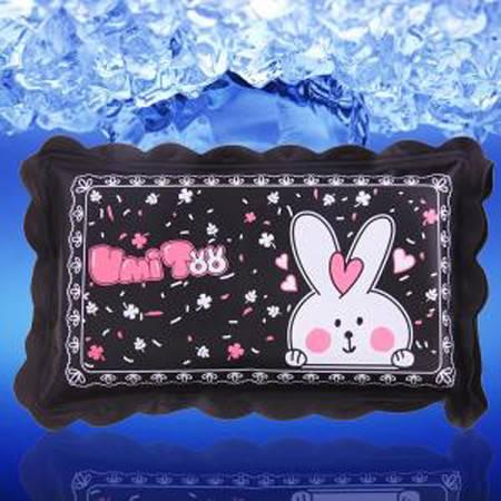 普润 (黑色兔子)夏季冰枕冰垫儿童冰凉枕宝宝卡通水枕头小号BZ-38 JR7404