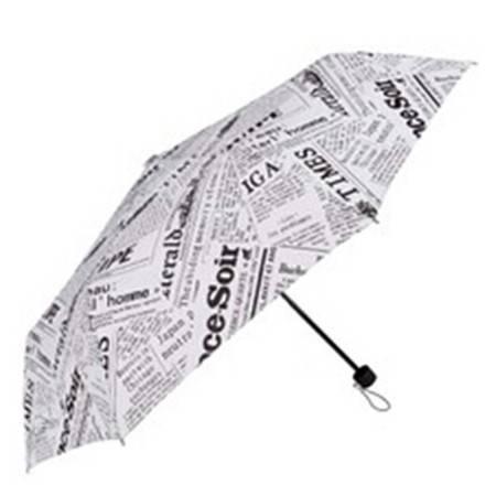 普润 创意欧美风雨伞/报纸图案伸缩式雨伞