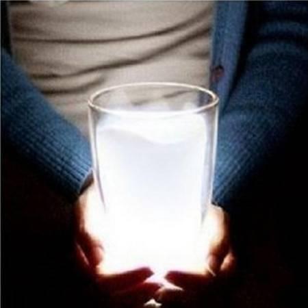 普润 白色牛奶杯灯 床头台灯