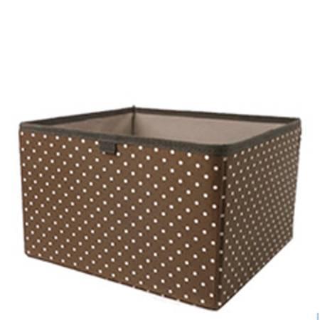 普润 全家福布艺收纳系列 挂袋伴侣抽屉盒 咖啡色