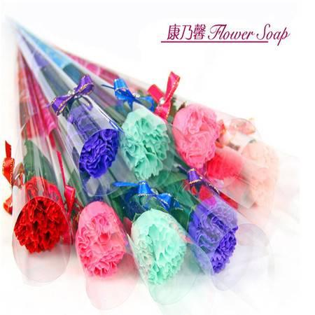 普润 蝴蝶结康乃馨香皂花--粉色10只