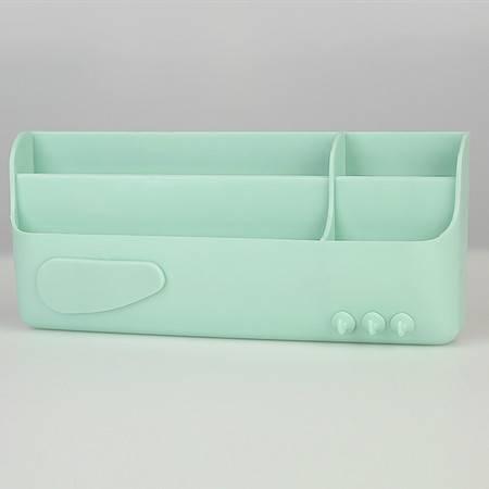 普润 糖果色壁挂式收纳盒 化妆品收纳盒 杂物置物架 果绿色