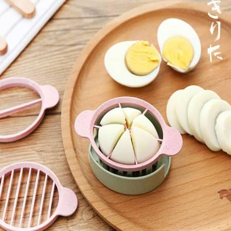 普润 创意小麦秸秆切蛋器分瓣器 花式皮蛋分割器鸡蛋松花蛋切片器 米色