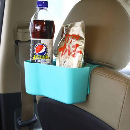 红兔子 车用椅背盒汽车座椅收纳袋多功能储物盒 汽车用品杂物置物架 蓝色