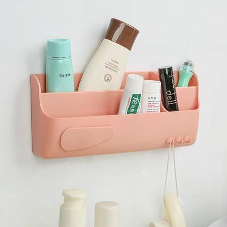 红兔子 糖果色壁挂式收纳盒 化妆品收纳盒 杂物置物架 橘红色
