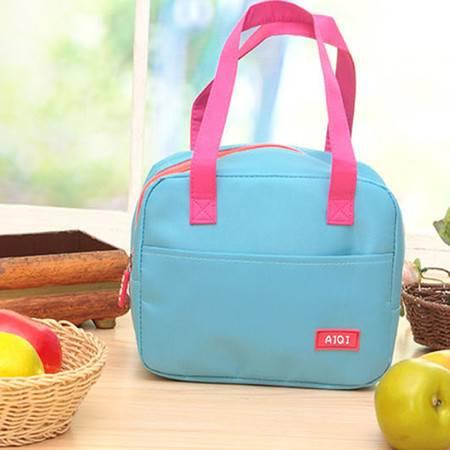普润 手提包带午餐便当包 加厚保温饭盒袋 时尚保鲜包小拎包奶瓶包 玫红色