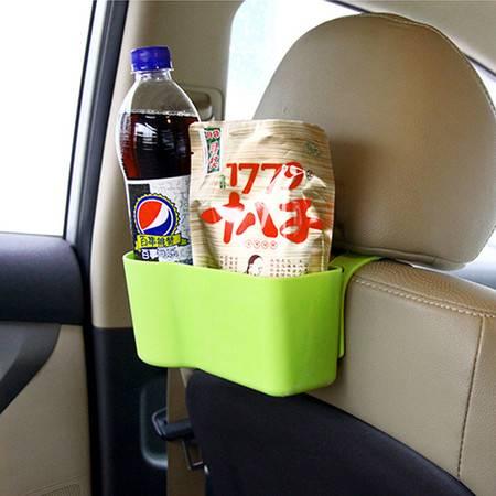 普润 车用椅背盒汽车座椅收纳袋多功能储物盒 汽车用品杂物置物架 绿色