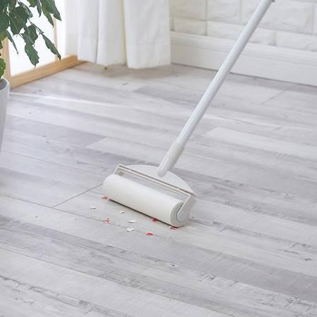 红兔子多用途可伸缩懒人滚筒粘毛器 毛发灰尘扫把 可伸缩除尘筒粘毛滚