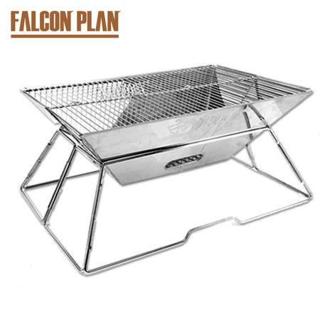 猎鹰计划 野营烧烤炉户外便携不锈钢长方形自助烧烤炉 家用木炭烧烤架碳烤炉