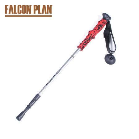 猎鹰计划 户外碳素登山杖 超轻可伸缩直柄三节登山手杖碳纤维步行杖登山拐棍碳素杆