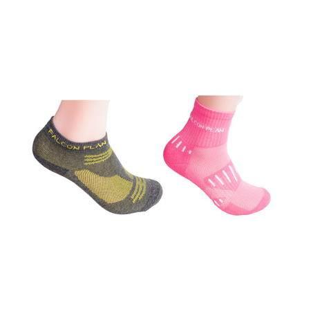 猎鹰计划 户外徒步保暖登山速干袜吸汗透气秋冬运动女袜 羽毛球袜篮球袜 两双装