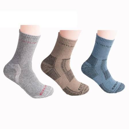 猎鹰计划 户外运动速干袜篮球袜透气快干袜男袜中长款跑步袜 徒步登山袜吸汗 三双装