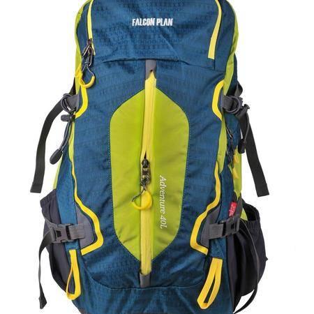 猎鹰计划 户外登山包40L 男女双肩背包防水 徒步运动出游郊游驴友旅游背包 带防雨罩 带背负系统