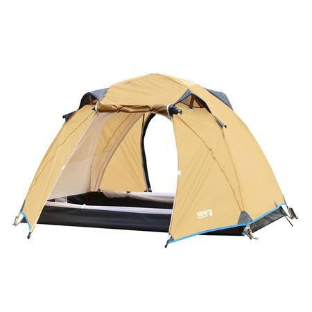猎鹰计划 户外野外露营帐篷防暴雨 双人多人野营双门双层帐篷透气防蚊 便携自驾游郊游帐篷