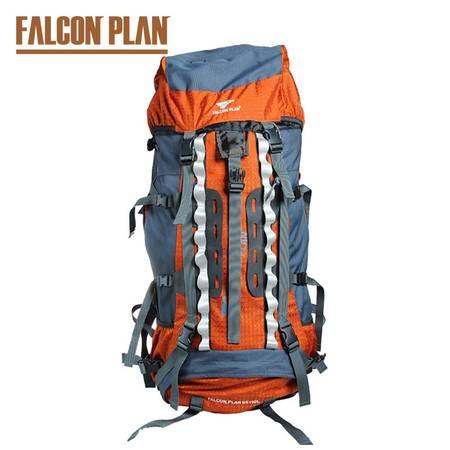 猎鹰计划 户外双肩包超大容量登山包65L+10L 多功能旅行包男女背包野外包防水