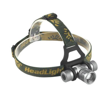 猎鹰计划 户外沙漠之狐头灯Q5强光带一节充电18650锂电池矿灯骑行头灯探照头灯