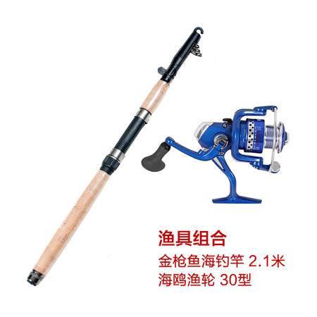猎鹰计划 户外垂钓渔具套装 钓鱼竿渔轮组合 金枪鱼2.1米海钓竿+海鸥渔轮30型