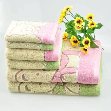 注美嘉正品浴巾 加厚吸水 提花可爱熊浴巾