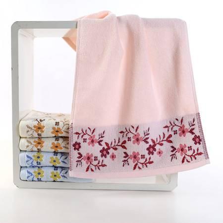 注美嘉厂家直销 纯棉提花百合毛巾 蓬松加厚 手感柔软 吸水性好