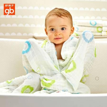 好孩子婴儿抱被新生儿包被空调被宝宝纯棉纱布抱毯 宝宝洗浴纱布巾