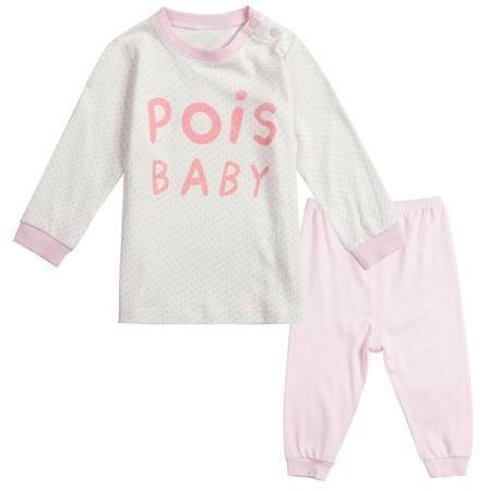 好孩子婴儿内衣儿童套头套装男童女童长袖保暖字母印花